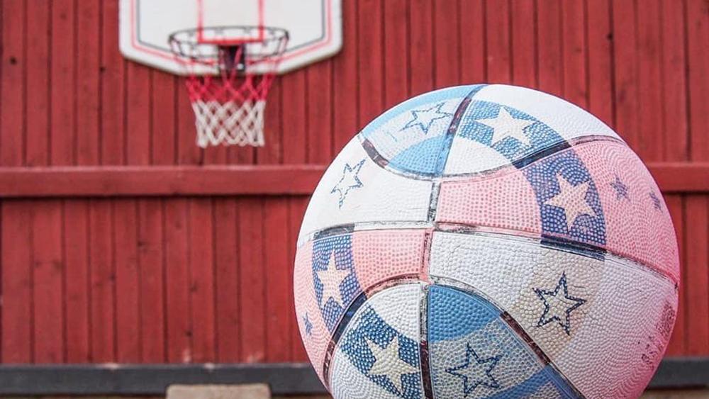 seeterin leikkitarha kuva koripallosta ja koripallokorista